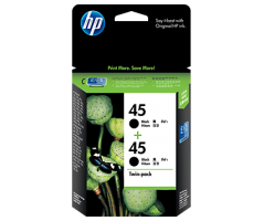 HP 45 Black Inkjet Crtg Twin Pack