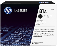 HP 81A Black LaserJet Toner Cartridge (CF281A)