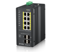 Network Switch Zyxel Gigabit High Power PoE+ Rugged (RGS200-12P)