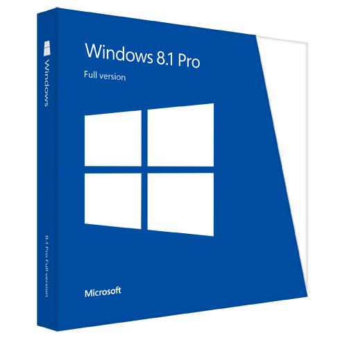 Win Pro 8.1 32-bit/64-bit Eng Intl DVD