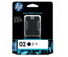 HP 02 AP Black Ink Cartridge(C8721WA)